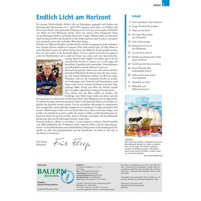 Ratgeber Milchproduktion 2017